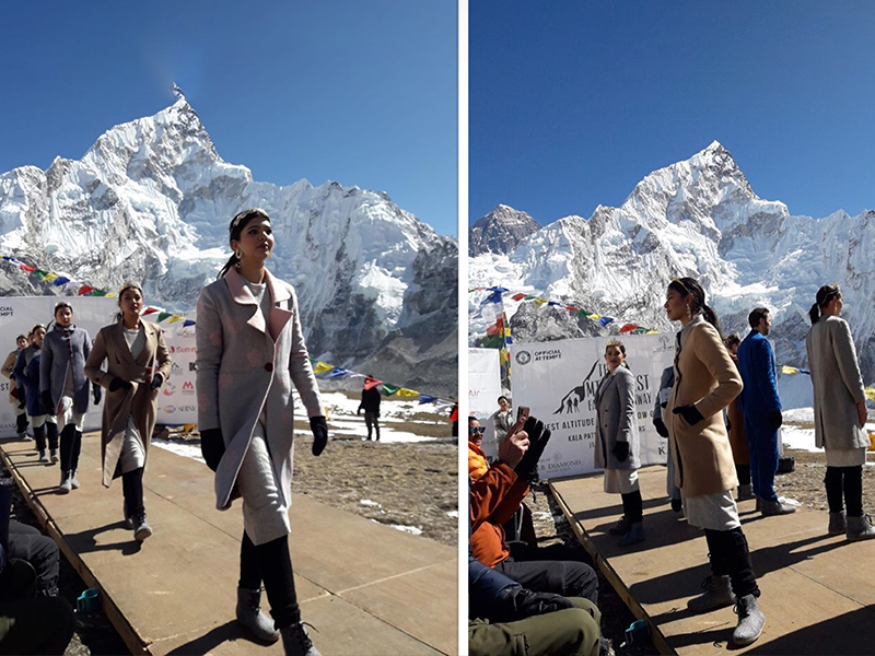 Fashion Show at Mount Everest! And it's a world Record!