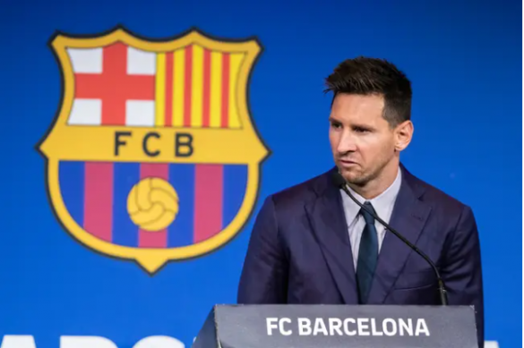 Lionel Messi leaves FCB